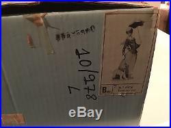 Lladro Lady with Shawl and Dog Holding Parasol Figurine Gloss Finish 4914
