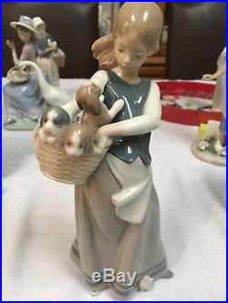 Lladro Little Dogs On Hip (Signed)