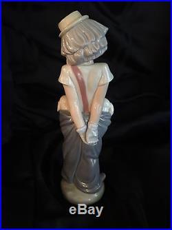 Lladro Little Pals #7600 Clown Puppy Dog Figurine