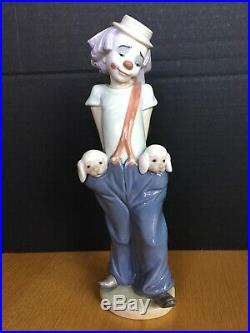 Lladro Little Pals Clown Dogs Collectors Society 1985 Gloss Finish Figurine 7600
