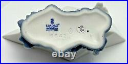 Lladro Little Stowaway Dog with Sailor Hat in Paper Boat Figurine 6642