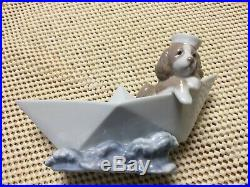 Lladro Little Stowaway Sailor Dog in Paper Boat 1999 Premier Issue #6642