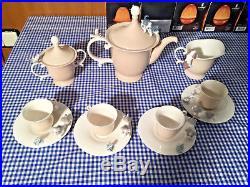 Lladro Lot COFFEE POT 6039&CREAM JUG 6040&SUGAR BOWL 6041&4 X DOG FROG CUP 6042