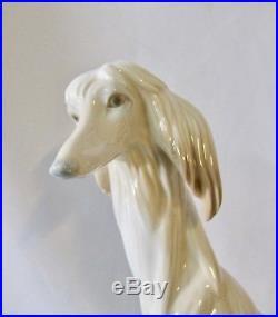 Lladro Lovely Figure Afghan Dog Porcelain 11 1/2 Height (#1207)