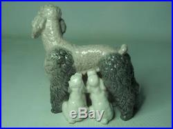 Lladro MOTHER WITH PUPS Figurine 1257 Poodle Dog Puppies Poodles