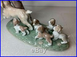 Lladro My Little Explorers Boy with Dogs Gloss Finish Figurine 6828