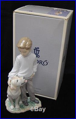 Lladro My Loyal Friend Boy/Dog Mint Condition Porcelain with Original Box S8208