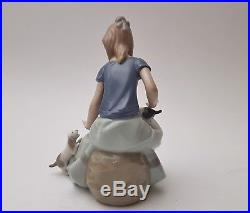 Lladro NAO Figur 17cm Mädchen mit Hunden Welpen Figurine porcelain dog girl