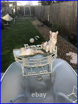Lladro NAO Porcelain Percy's Cat Figurine Rare 1960s Cat And Dog Best Friends