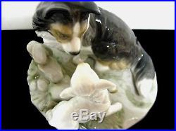Lladro Nao 1638 COUNTRYSIDE COMPANIONS 5.5 X 7 A dog & a lamb