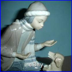 Lladro Nao LESSON FOR THE DOG #140 Boy Figure Handpainted