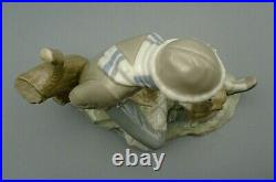 Lladro Nao LESSON FOR THE DOG #140 Boy Figure Handpainted Made in Spain