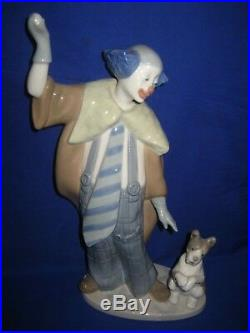 Lladro Nao Piece Center Ring No 1098 Clown With Dog Figurine Boxed