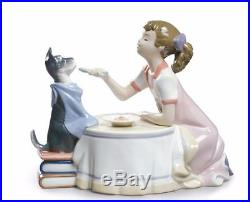 Lladro New 9197 Dog And A Girl Playing 01009197 Tea Time Collectable Brand New