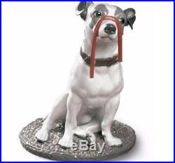 Lladro New Large Figurine Dog Jack Russell With Licorice 01009192 Brand New