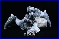 Lladro No. 1258 Playful Dogs New with Original Box Retired