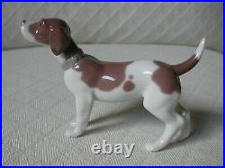 Lladro ON GUARD #5350 Standing Brown & White Dog MINT RARE