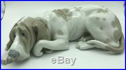 Lladro Old Dog #1067 Retired Hound First Quality Mint Condition