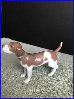 Lladro On Guard Beagle Dog Figurine #5350 RARE Mint