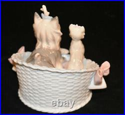Lladro Our Cozy Home Yorkshire Terrier Dog Figurines 06469 no box