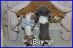 Lladro PLEASE COME HOME #6502 Adorable Puppy Dogs Figurine