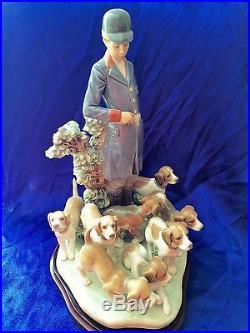 Lladro Pack of Hunting Dogs 5342 Ltd Ed 645/3000 RARE Pristine NIB $1595 OBO FSP