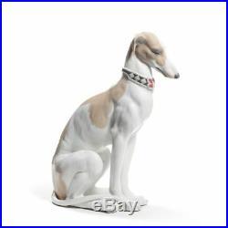Lladro Pensive Greyhound Dog Figurine 01008608