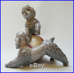 Lladro Playful Dogs Poodles with Ball 1250