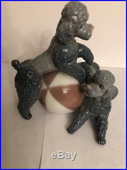 Lladro Playful Poodples Figurine Poodles With Ball Dogs Playing