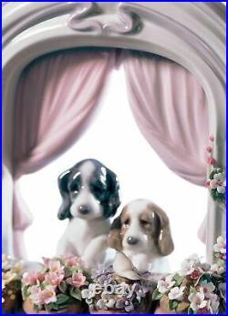 Lladro Please Come Home Dogs Figurine 01006502