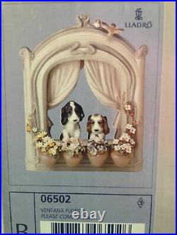 Lladro Please Come Home Dogs Figurine with box Retail$1295