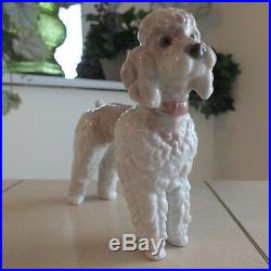 Lladro Poodle # 1259 Aka Woolly Dog Mint Fast Shipping