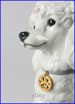Lladro Poodle With Mochis Dog Figurine #9472 Brand Nib Adorable Save$$ F/sh