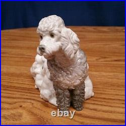 Lladro Poodle from 1974 Figurine Mother Dog w 5 Nursing Puppies Retired #1257