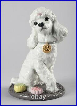 Lladro Poodle with Mochis Dog Figurine 01009472