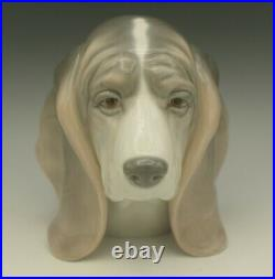 Lladro Porcelain 1149 Dog's Head Basset Hound Beagle Bust Sculpture 6 Retired