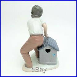 Lladro Porcelain 5797'Come Out & Play' Boy with Dog & Ball Figurine with Box
