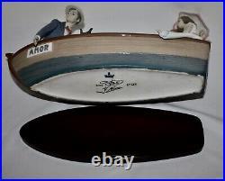 Lladro Porcelain AMOR LOVE BOAT Signed by Catalá 132/3000 Dog Girl Parents #5453