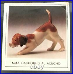 Lladró Porcelain Dog #5348 with original box