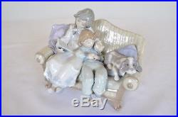 Lladro Porcelain Figurine Big Sister #5735 Dog Sisters on Couch