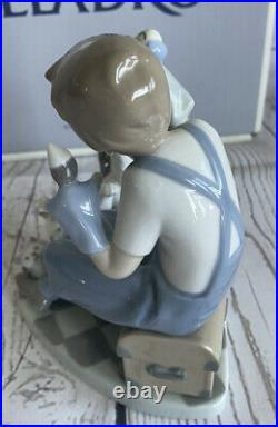 Lladro Porcelain Figurine Puppet Show Puppeteer Boy With Animals Dog Cat 5736