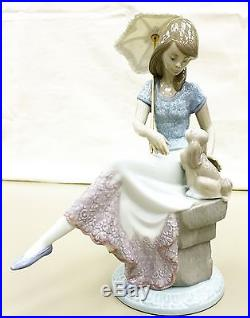 Lladro Porcelain Figurine Retired Picture Perfect, Lladro Lady With Dog