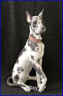 Lladro Porcelain Great Dane Dog 6558 Retired 18.5 Tall Figurine