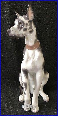 Lladro Porcelain Great Dane Dog 6558 Retired 18.5 Tall Figurine