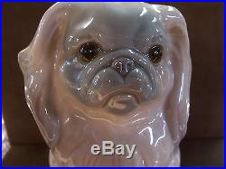 Lladro Porcelain Pekingese Dog 6 Tall