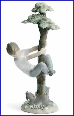 Lladro Porcelain Retired 01008446 Tree of adventures (boy) dog New Box 8446
