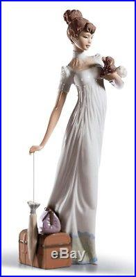 Lladro Porcelain Travelling Companions Figurine Lady Dog Ornament 34cm 01006753
