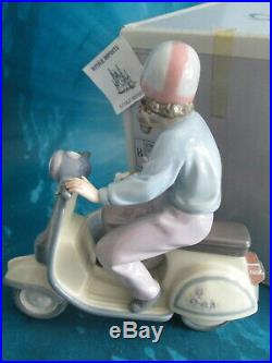 Lladro Precious Cargo Boy On Scooter Dogs In Side Car 5794 New In Box