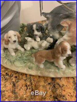 Lladro Privilege Puppy Parade #6784 Girl Walking Dogs with Original Box