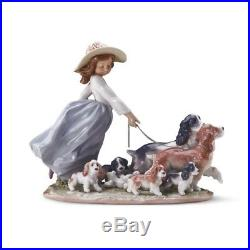 Lladro Puppy Parade Girl with Dogs #01006784 mint condition with box